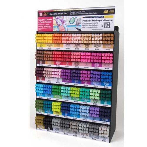 Rotulador punta pincel Coloring Brush Pen. 48 colores